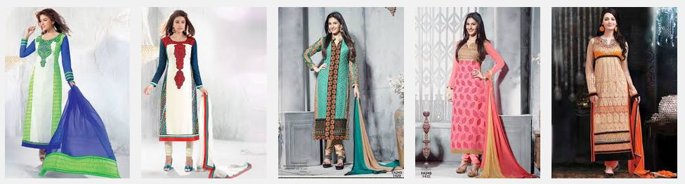 Straight-cut Salwar Kameez