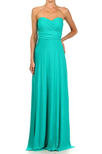 12-Ami-Solid-Convertible-Multi-Way-Long-Maxi-Dress-Made-in ...