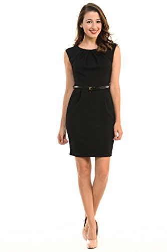 Aulin-Collection-Womens-Color-Office-Workwear-Sleeveless-Sheath-Dress-0