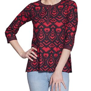 Cotton-Printed-Kurti-Women-Apparels-Black-Tops-0