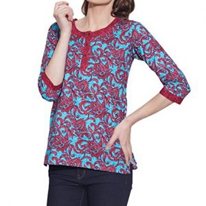 Cotton-Printed-Kurti-Women-Apparels-Tops-RUST-0