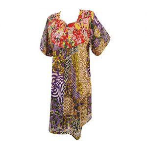 Cotton-Top-Summer-Wear-Floral-Print-Kurti-Embroidered-Multicolor-Tunic-0