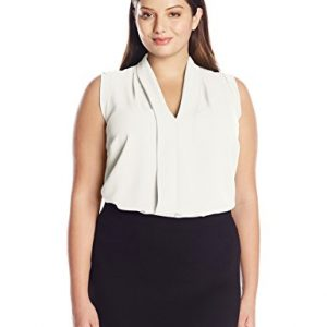 Ellen-Tracy-Womens-Plus-Size-Solid-Layered-Placket-Shell-0