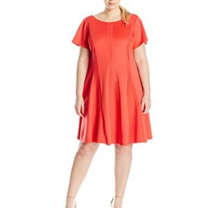 Gabby-Skye-Womens-Plus-Size-Fit-and-Flare-Dress-with-Cap-Sleeves-0