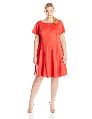 59c8990624214 Gabby Skye Women s Plus-Size Fit and Flare Dress with Cap Sleeves