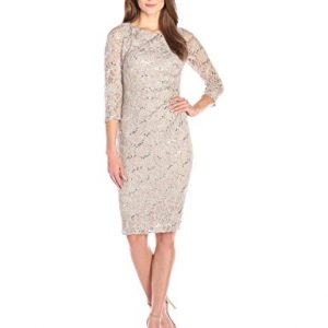 Jessica-Howard-Womens-Lace-Side-Tucked-Sheath-0