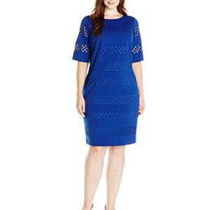 Jessica-Howard-Womens-Plus-Size-Elbow-Sleeve-Shift-Dress-0