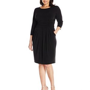Jessica-Howard-Womens-Plus-Size-Womens-Ruched-Waist-Dress-0