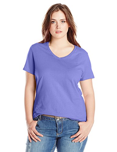 Just My Size Women s Plus-Size Short-Sleeve V-Neck T-Shirt 594800c33fdf