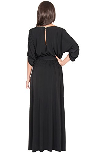 ee38db106b KOH KOH Womens Long Flowy Formal Batwing Sleeve Evening Casual Gown Maxi  Dress