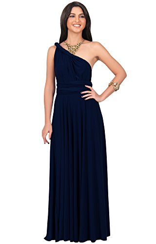 d069aafe92b3 KOH KOH Womens Long Bridesmaid One Shoulder Convertible Wrap Cocktail Maxi  Dress