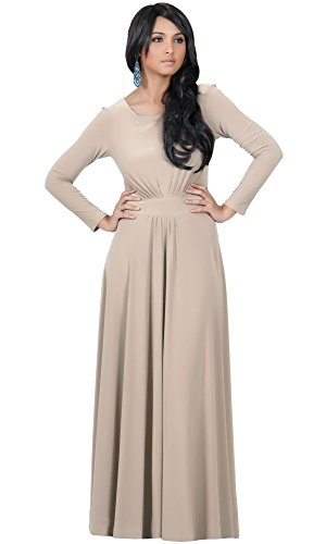 KOH KOH Womens Long Sleeve Flowy Empire Waist Fall Winter ...