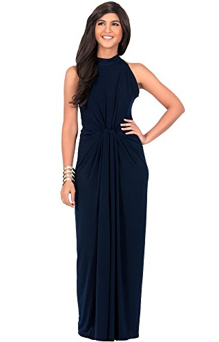 260e058fd49a1 KOH KOH Womens Long Sleeveless Sexy Summer Vintage Tube Cocktail Gown Maxi  Dress
