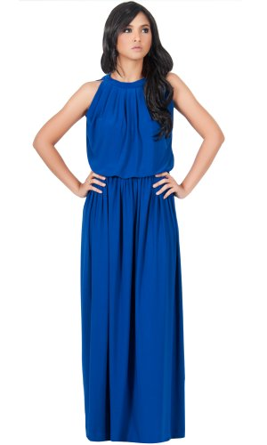 b51c035c8409a KOH KOH Womens Long Sexy Sleeveless Summer Formal Flowy Casual Gown Maxi  Dress