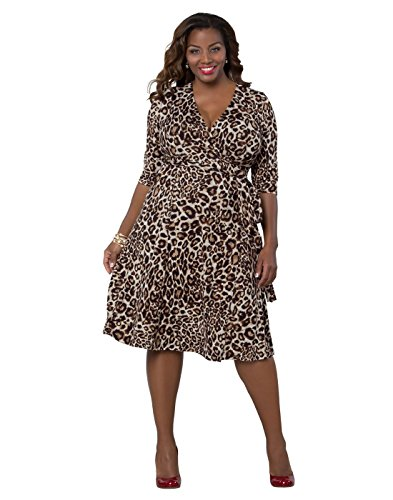 Kiyonna Women\'s Plus Size Essential Wrap Dress