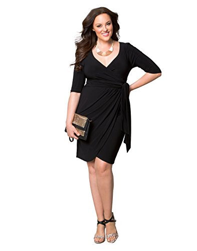 Kiyonna Women\'s Plus Size Harlow Faux Wrap Dress
