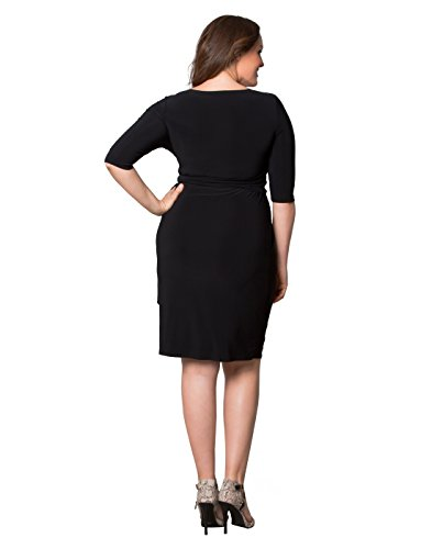 402b2287ef03 Kiyonna Women's Plus Size Harlow Faux Wrap Dress