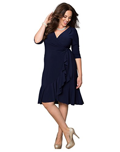 Kiyonna Women\'s Plus Size Whimsy Wrap Dress