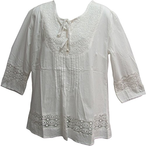 White Cotton Lace Blouse 81