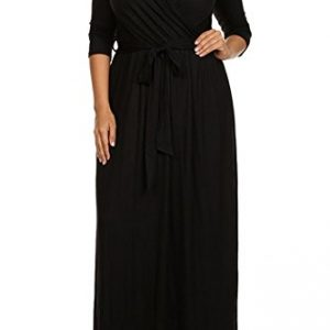 Modern-Kiwi-Solid-V-Neck-Long-Sleeve-Wrap-Plus-Size-Maxi-Dress-0