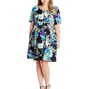 NY-Collection-Womens-Plus-Size-Printed-Short-Sleeve-Dress-0