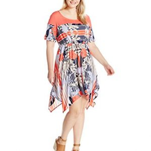 NY-Collection-Womens-Plus-Size-Printed-Short-Sleeve-Dress-with-Handkercheif-Hem-0