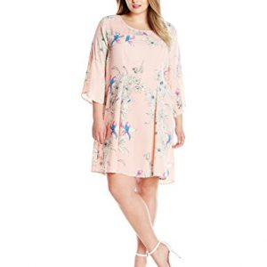 NY-Collection-Womens-Plus-Size-Printed-Three-Quarter-Bell-Sleeve-Dress-0