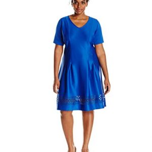 NY-Collection-Womens-Plus-Size-Short-Sleeve-V-Neck-Aline-Dress-0