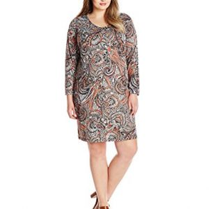 Notations-Womens-Plus-Size-Allover-Print-Shift-Dress-0