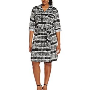 Notations-Womens-Plus-Size-Long-Sleeve-Printed-Shirt-Dress-0