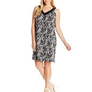 Notations-Womens-Plus-Size-Printed-Sleeveless-Cleo-V-Neck-Dress-0