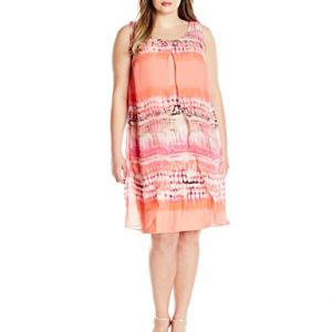 Notations-Womens-Plus-Size-Printed-Sleeveless-Dress-with-Printed-Chiffon-Over-Lay-0