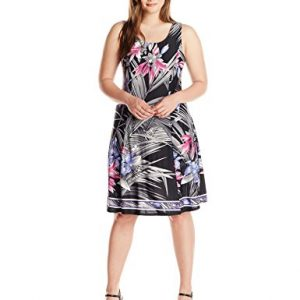 Notations-Womens-Plus-Size-Sleeveless-Printed-Dress-0