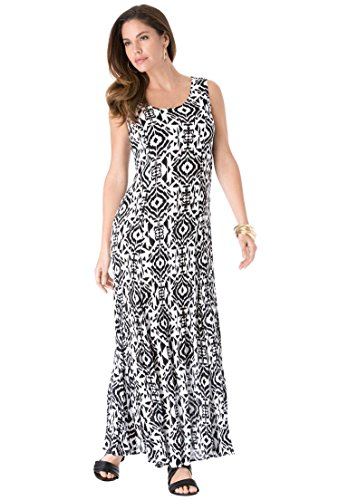 Plus size a line maxi dress