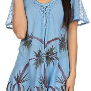 Sakkas-Albina-Island-Relaxed-Fit-Embroidery-Cap-Sleeves-Blouse-Top-0