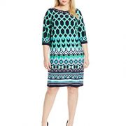 Sandra-Darren-Womens-Plus-Size-34-Bell-Sleeve-Printed-Ity-Dress-0