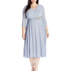 Sangria-Womens-Plus-Size-34-Sleeve-Lace-and-Chiffon-Fit-and-Flare-0