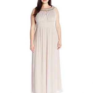 Sangria-Womens-Plus-Size-Embellished-Neck-Line-with-Ruched-Waist-Evening-Gown-0