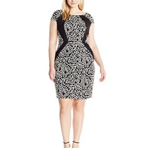 Sangria-Womens-Plus-Size-Short-Sleeve-Animal-Print-Textured-Knit-Sheath-0