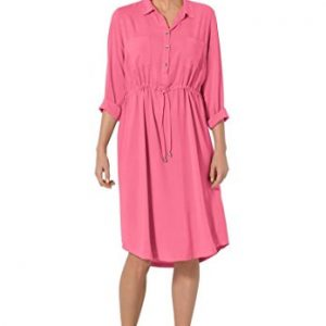 Womens-Plus-Size-Shirt-Dress-With-Collar-0