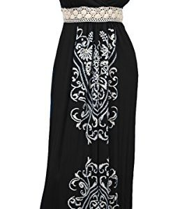 eVogues-Plus-Size-Embroidery-Print-Empire-Waist-Maxi-Dress-0