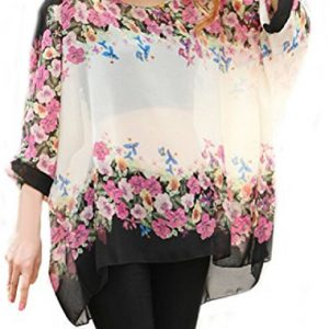 iNewbetter-Womens-Floral-Batwing-Sleeve-Loose-Blouse-Tunic-Tops-0