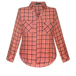 Allegra-K-Women-Plus-Size-Roll-Up-Sleeves-Buttoned-Plaid-Shirt-0