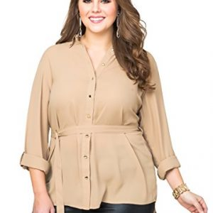 Ashley-Stewart-Womens-Plus-Size-Belted-Roll-Sleeve-Tunic-0