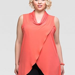 Ashley-Stewart-Womens-Plus-Size-Crossover-Cowl-Neck-Tank-0