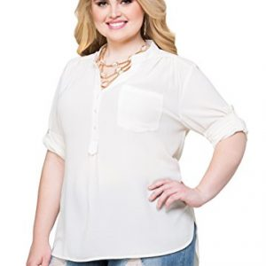 Ashley-Stewart-Womens-Plus-Size-Textured-Crepe-Roll-Sleeve-Blouse-0