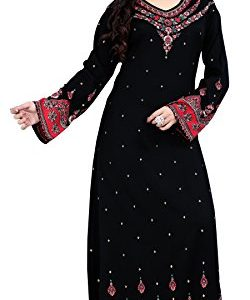 BombayFashions-Womens-Long-Printed-KaftanAbaya-Dress-Long-Sleeve-Blouse-Tunic-0