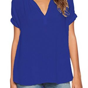 Chase-Secret-Womens-Casual-V-Neck-Summer-Short-Sleeve-Blouse-Top-0