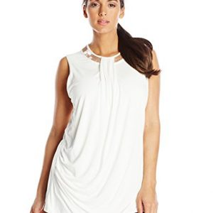 DKNYC-Womens-Plus-Size-Short-Sleeve-Embellished-Neck-Drape-Front-Box-0