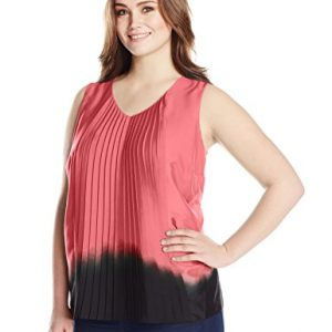DKNYC-Womens-Plus-Size-Vertical-Pleat-Front-Blouse-0